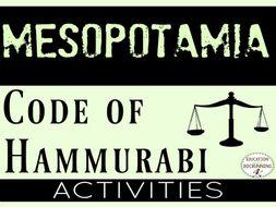 Ancient Mesopotamia Code of Hammurabi Activities