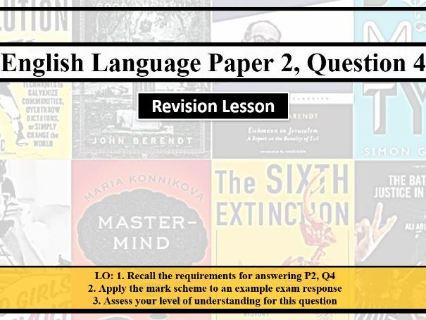 AQA English Language Paper 2 Question 4 Revision Lesson
