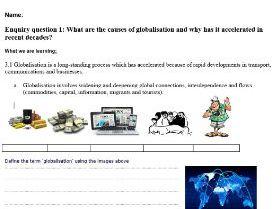 EDEXCEL GCE GEOGRAPHY Globalisation L1 (Spec 3.1) Complete Lesson Worksheets