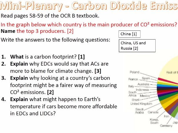 NEW OCR B Enquiring Minds Syllabus Year 9 11) The 7 Impacts of Climate Change PA WITH ANSWERS