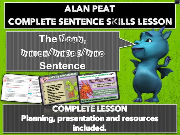 'Noun which/where/who' sentence - complete lesson KS2