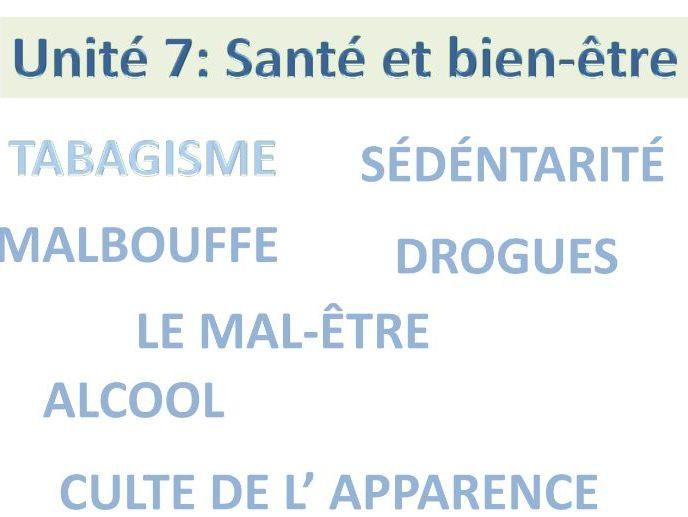 A-Level French:  La santé et le bien-être