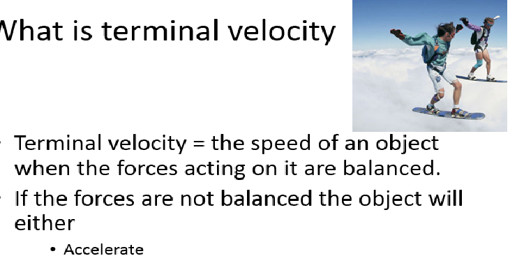 P10.2 AQA Weight and Terminal Velocity