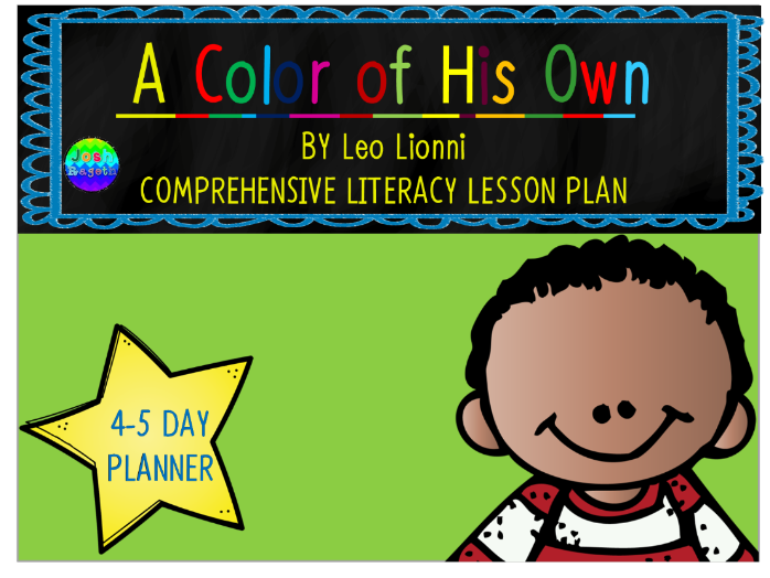 A Color of His Own by Leo Lionni 4-5 Day Lesson Plan