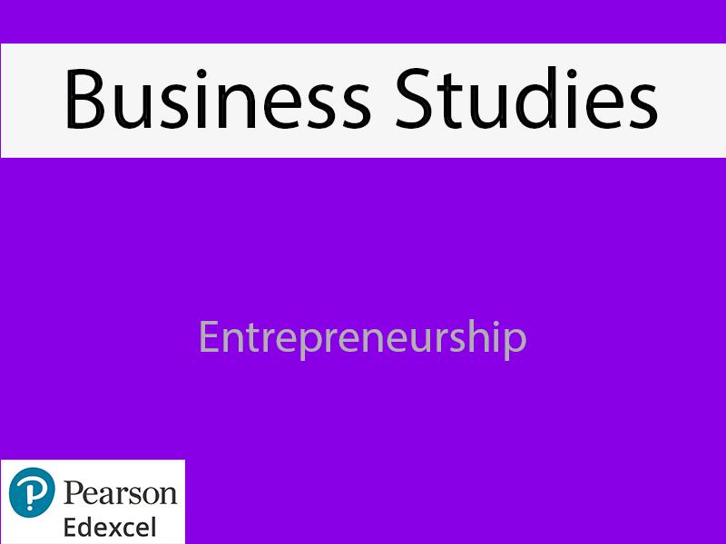 Business: Entrepreneurship Powerpoint (NEW SPEC) - Edexcel