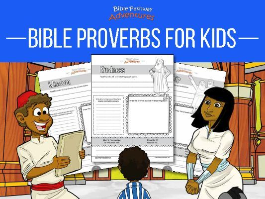 Bible Proverbs for Kids Activity Book