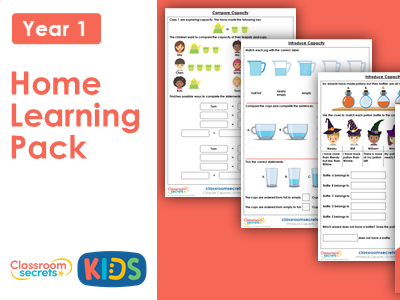 Year 1 Spring Week 12 Home Learning Maths Pack