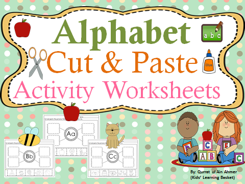 Alphabet Cut and Paste Activity Worksheets
