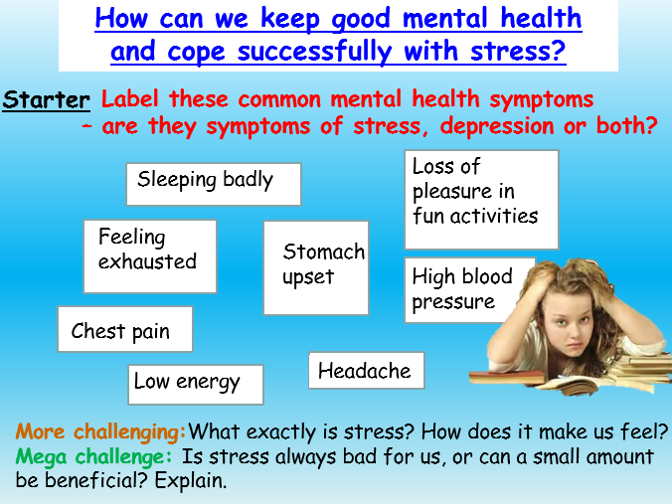 Stress : Exam Stress / Mental Health PSHE