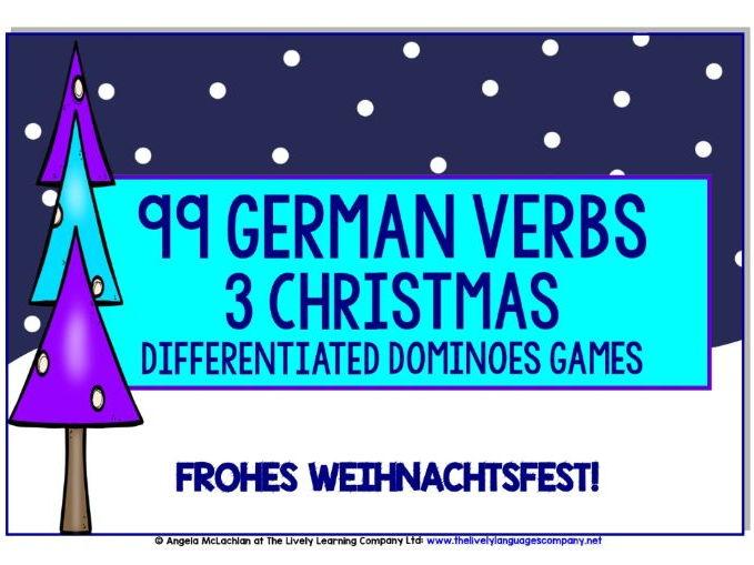 GERMAN VERBS CHRISTMAS DOMINOES GAMES (1)