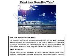Close reading notes: Robert Gray, 'Byron Bay: Winter'