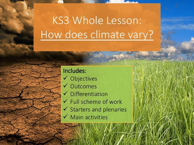 KS3 How does climate vary around the world? Whole Lesson