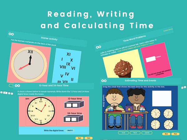 Reading, Writing and Calculating Time - Year 3, (US 2nd grade)