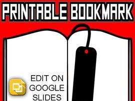 Printable Bookmark Templates (Editable in Google Slides)