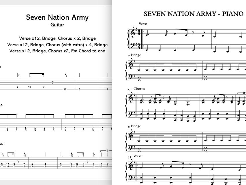 Seven Nation Army - Band Parts