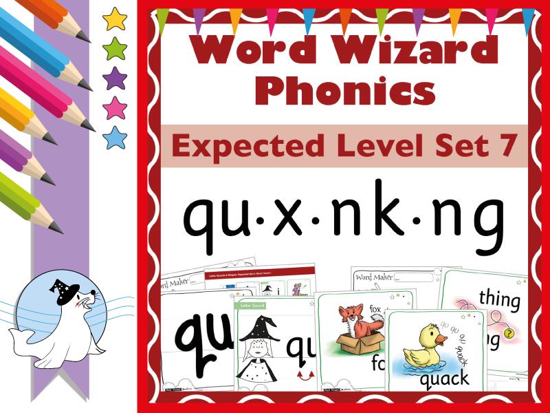 Word Wizard Phonics Expected Set 7: qu.x.nk.ng
