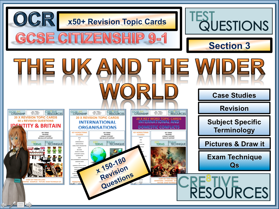 Citizenship GCSE [9-1] - 50 Revision Topic Cards OCR Section 3