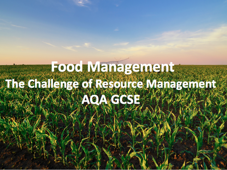 The Challenge of Resource Management - Food Management
