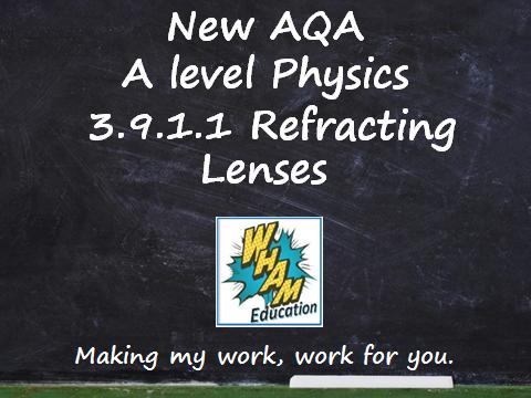 AQA A Level Physics 3.9.1.1 Refracting Lenses