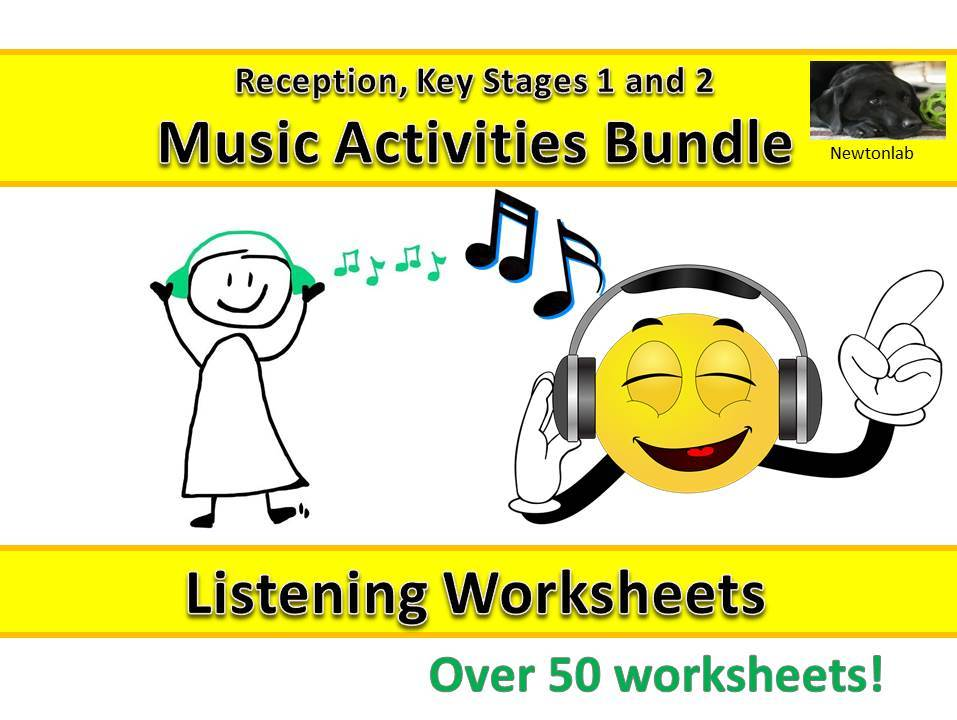 Music Listening Worksheets - Reception, Key Stages 1 and 2