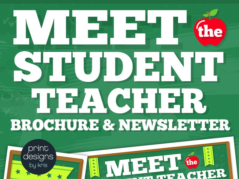 Meet the Student Teacher Flyer, Newsletter or Brochure Fully Editable & Tutorial