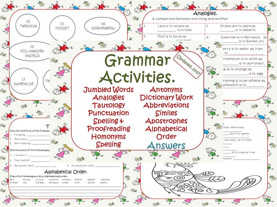 Christmas Activities & Worksheets, Grammar, Poetry, Creative ...
