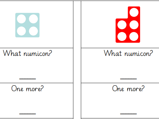 Numicon One More and One Less