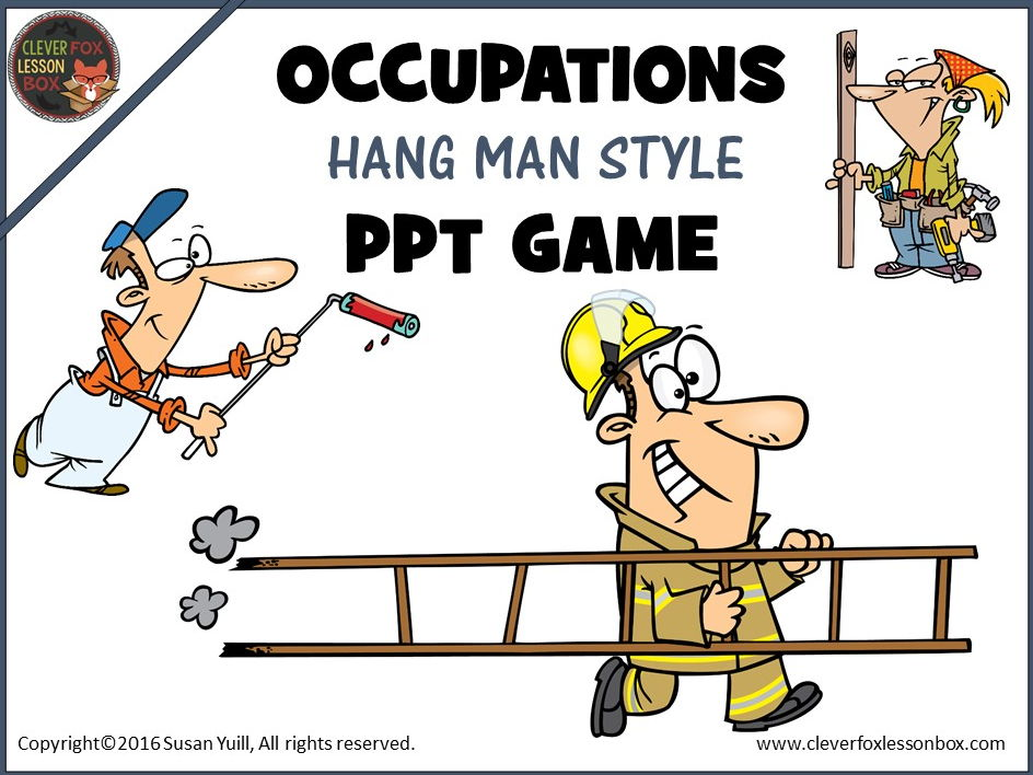 Occupations - Powerpoint Game Hangman Style