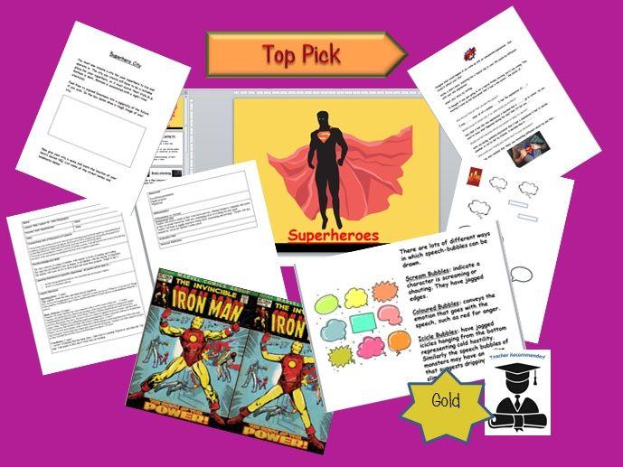 Superheroes - Comics in the Classroom. Writing unit.
