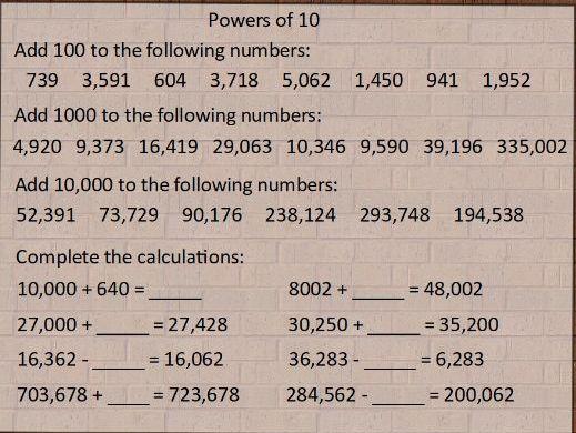 Y5 Maths Starters No.1
