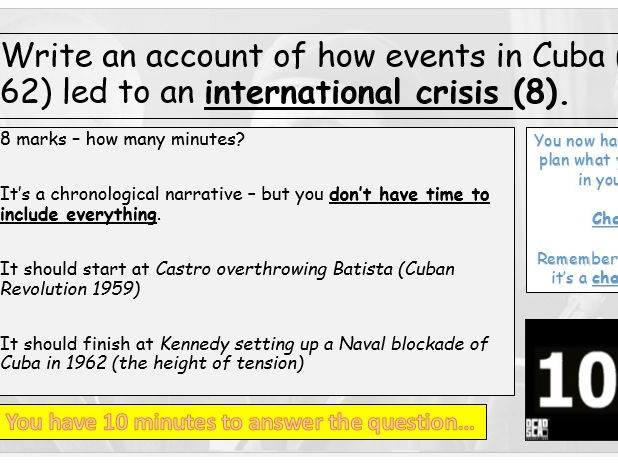 How and Why did events in Cuba (1959-62) become an international crisis?