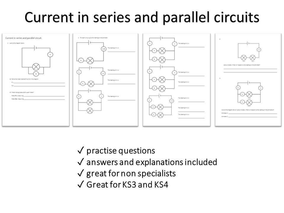 Current in series and parallel circuits