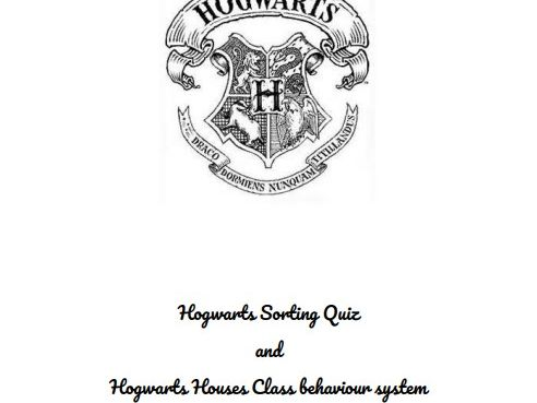 Hogwarts Sorting Quiz and Hogwarts Houses Class Behaviour System (editable)