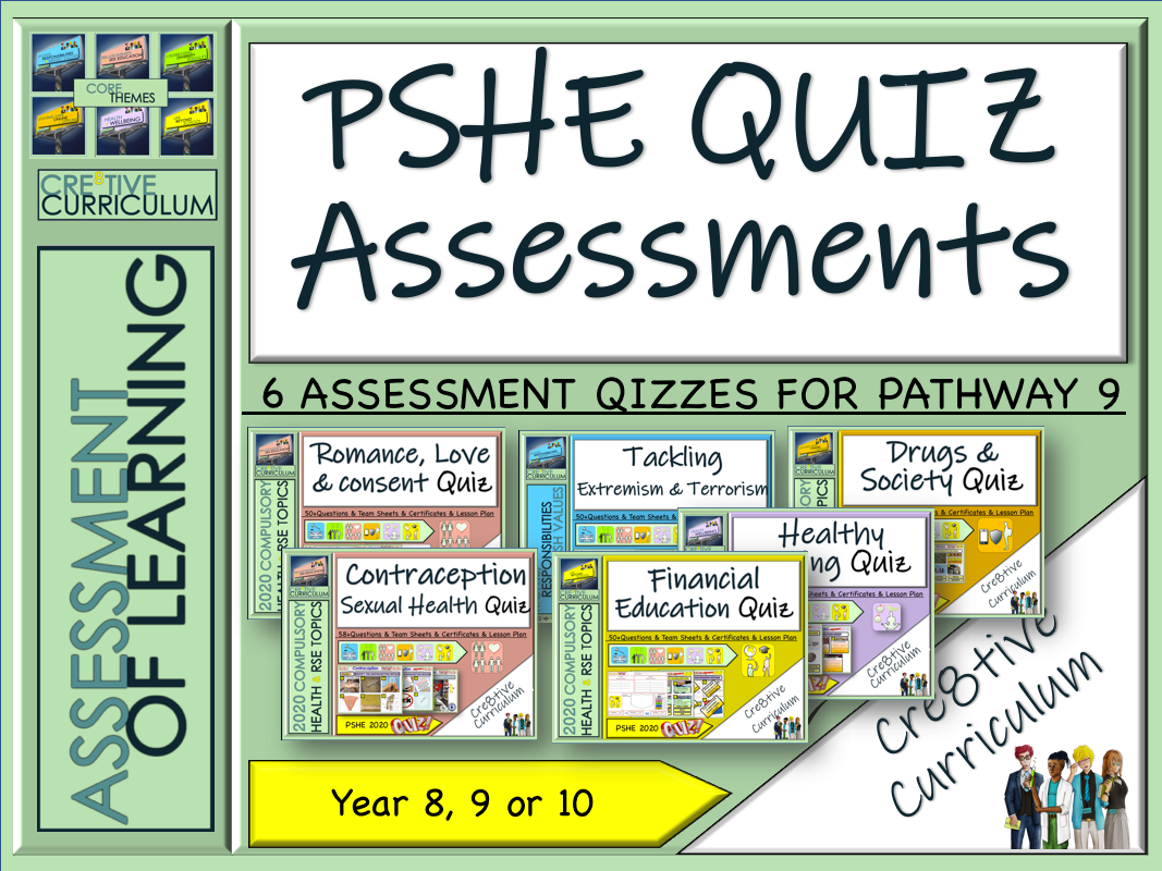 PSHE  RSE Assessment Quizzes