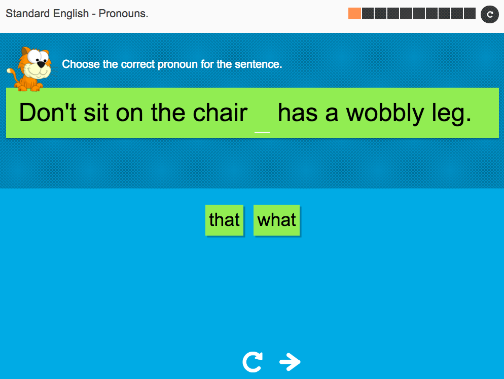 Pronouns - Interactive Activity - KS3 Spag