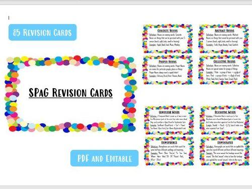 KS2 SPaG Revision Cards