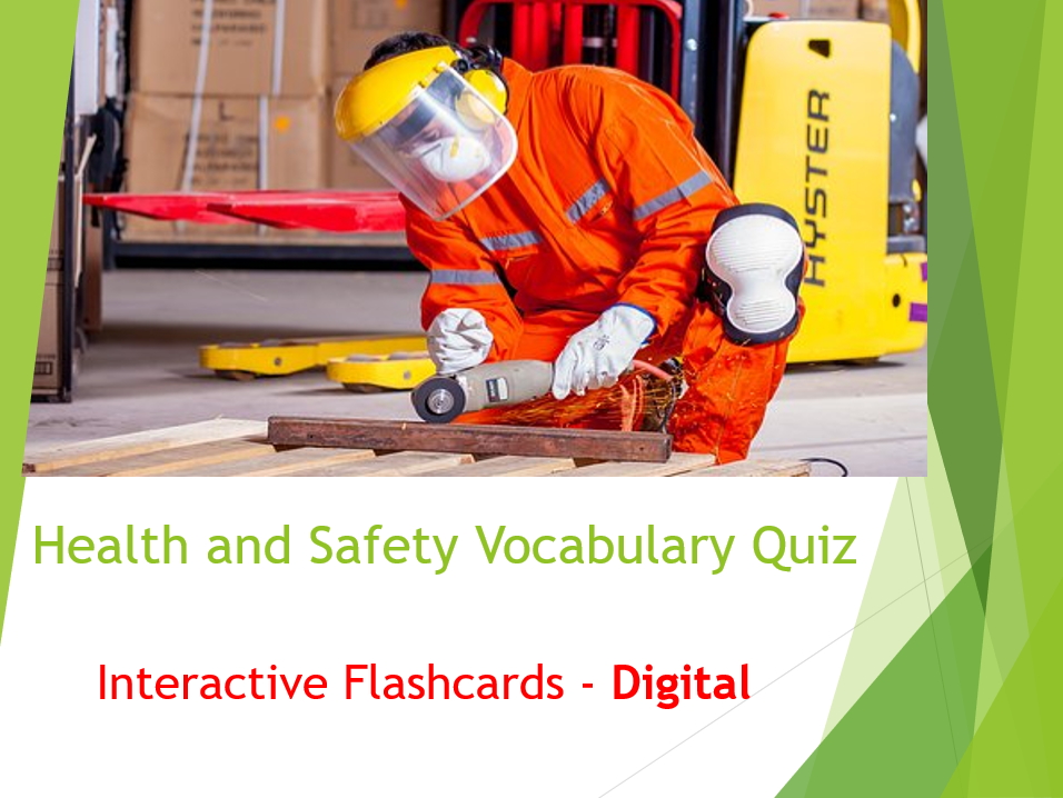 Health and Safety Interactive Flashcards Vocabulary Quiz