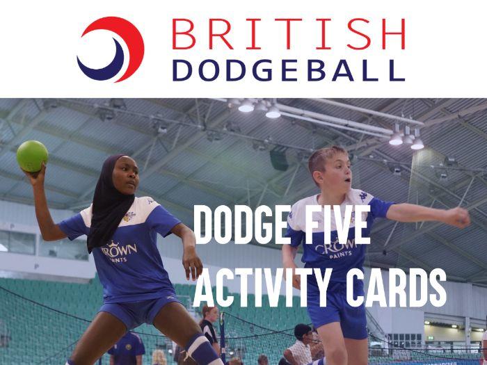 Dodge5:@Home Dodgeball PE Activity Cards