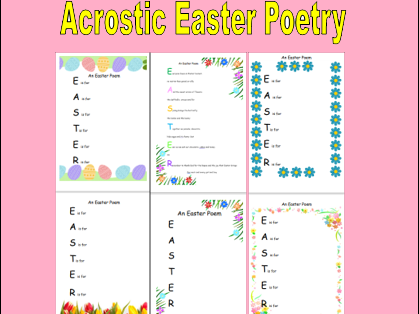 Easter Acrostic Poem Templates