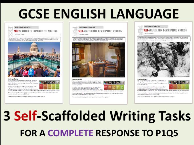 3 GCSE English Language 9-1 Self-Scaffolded Descriptive Writing - Whole Text Exercises
