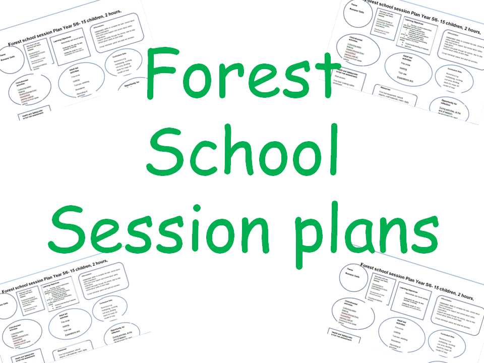 Forest school lesson/ session plans