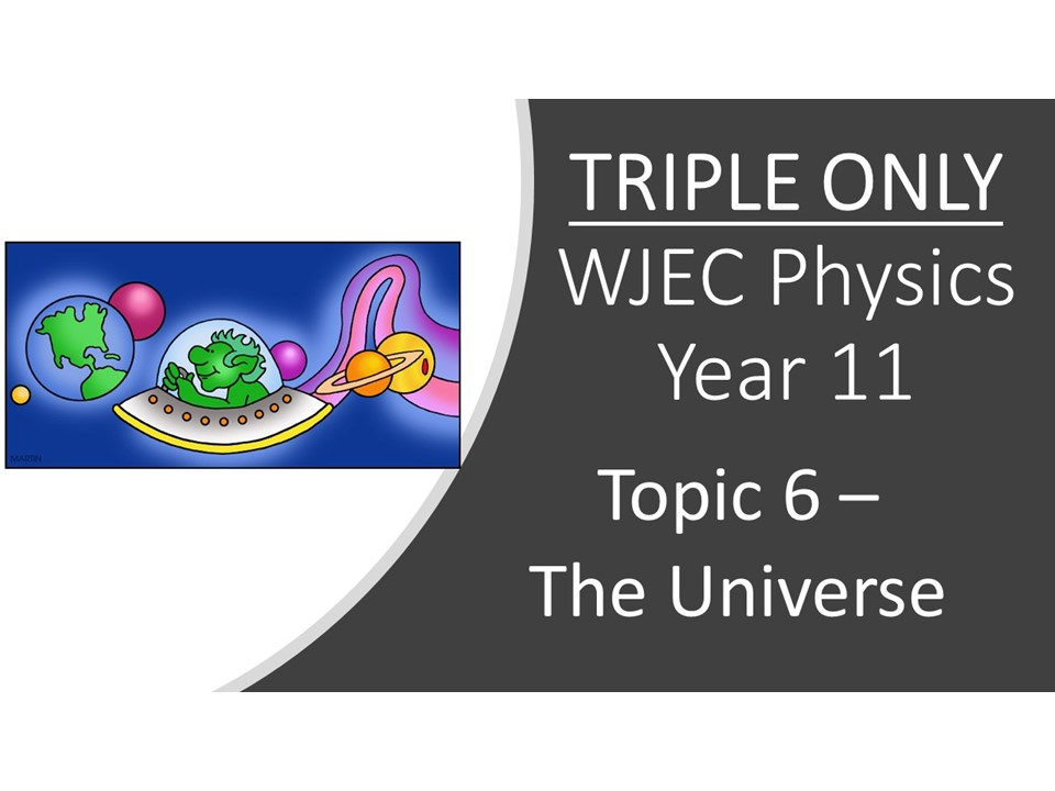 WJEC Physics 2.6 (Triple only) The Universe whole topic ppt
