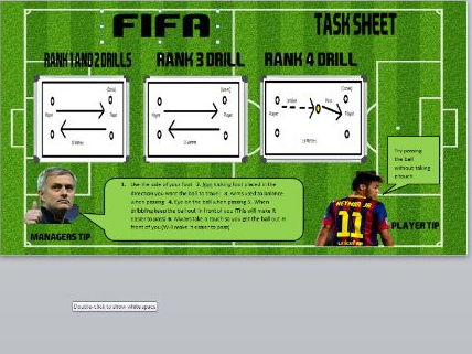 Fifa 18 Football Passing Task  Sheet