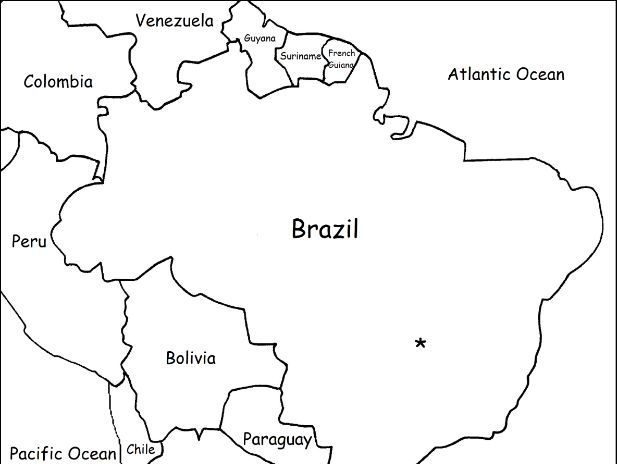 BRAZIL - Printable worksheets include a map to color