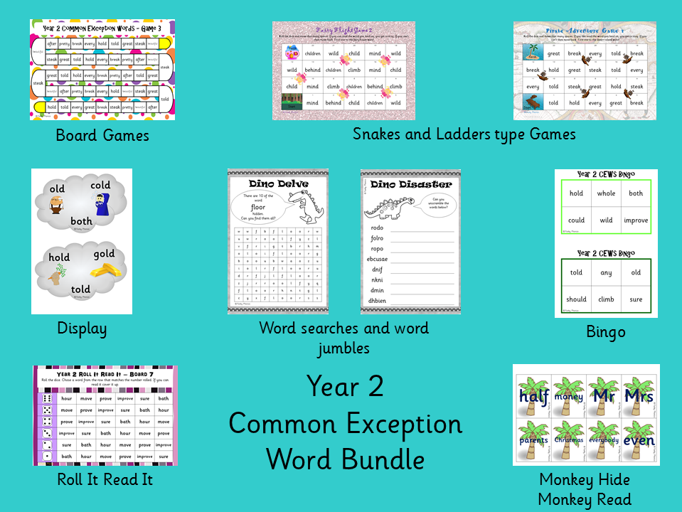 Year 2 Common Exception Word Bundle