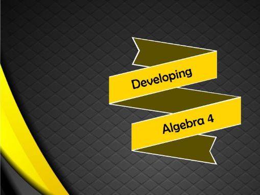 Developing Algebra 4