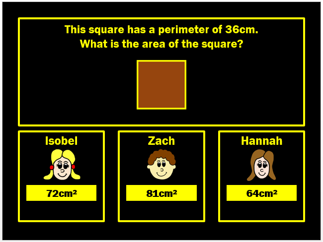 Area Powerpoint Game (Two) by Arithmetickx