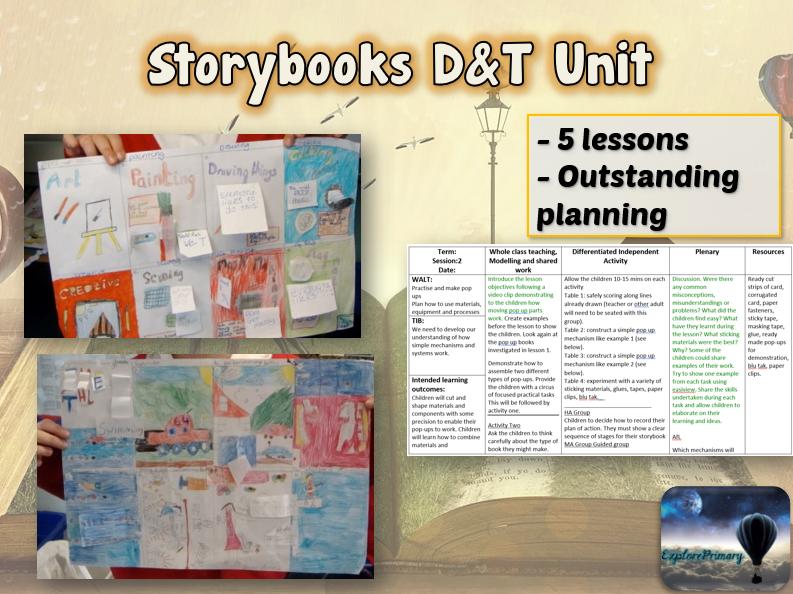 STORYBOOKS Design & Technology Unit - 5 Lessons