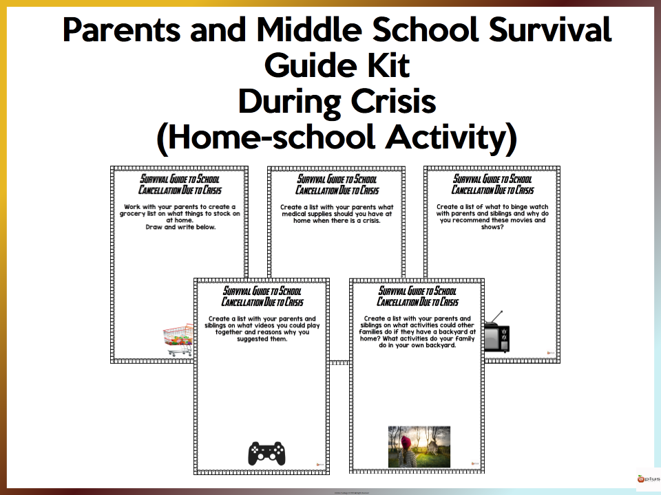 Parents and Middle School Survival Guide Kit - Distance Learning/Homeschool