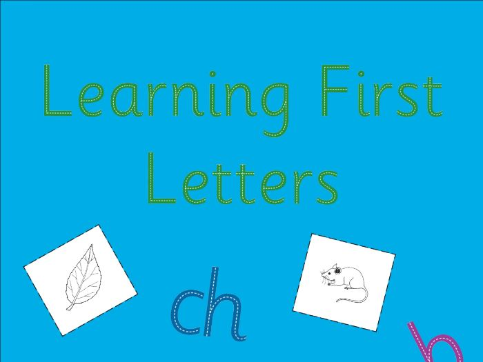 LEARNING FIRST LETTERS